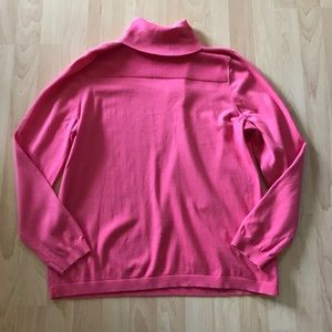Talbots Bubblegum Pink Turtleneck Sweater